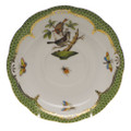 Herend Rothschild Bird Borders Green Tea Saucer No.4 6 in RO-EV-00734-1-04