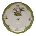 Herend Rothschild Bird Borders Green Tea Saucer No.5 6 in RO-EV-00734-1-05