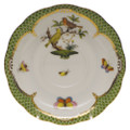 Herend Rothschild Bird Borders Green Tea Saucer No.6 6 in RO-EV-00734-1-06