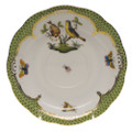 Herend Rothschild Bird Borders Green Tea Saucer No.7 6 in RO-EV-00734-1-07