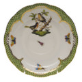 Herend Rothschild Bird Borders Green Tea Saucer No.8 6 in RO-EV-00734-1-08