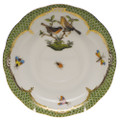 Herend Rothschild Bird Borders Green Tea Saucer No.9 6 in RO-EV-00734-1-09