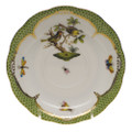 Herend Rothschild Bird Borders Green Tea Saucer No.11 6 in RO-EV-00734-1-11