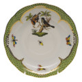 Herend Rothschild Bird Borders Green Tea Saucer No.12 6 in RO-EV-00734-1-12