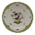 Herend Rothschild Bird Borders Green Service Plate No.1 11 in RO-EV-01527-0-01
