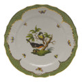 Herend Rothschild Bird Borders Green Service Plate No.2 11 in RO-EV-01527-0-02