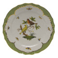 Herend Rothschild Bird Borders Green Service Plate No.6 11 in RO-EV-01527-0-06