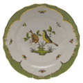 Herend Rothschild Bird Borders Green Service Plate No.7 11 in RO-EV-01527-0-07