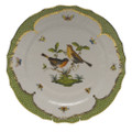 Herend Rothschild Bird Borders Green Service Plate No.9 11 in RO-EV-01527-0-09