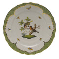 Herend Rothschild Bird Borders Green Service Plate No.10 11 in RO-EV-01527-0-10