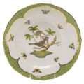 Herend Rothschild Bird Borders Green Dessert Plate No.1 8.25 in RO-EV-01520-0-01