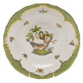 Herend Rothschild Bird Borders Green Dessert Plate No.2 8.25 in RO-EV-01520-0-02