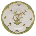 Herend Rothschild Bird Borders Green Dessert Plate No.3 8.25 in RO-EV-01520-0-03