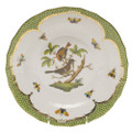 Herend Rothschild Bird Borders Green Dessert Plate No.4 8.25 in RO-EV-01520-0-04