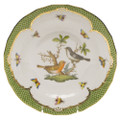 Herend Rothschild Bird Borders Green Dessert Plate No.5 8.25 in RO-EV-01520-0-05