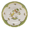 Herend Rothschild Bird Borders Green Dessert Plate No.6 8.25 in RO-EV-01520-0-06