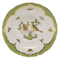 Herend Rothschild Bird Borders Green Dessert Plate No.7 8.25 in RO-EV-01520-0-07