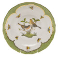 Herend Rothschild Bird Borders Green Dessert Plate No.9 8.25 in RO-EV-01520-0-09
