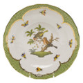 Herend Rothschild Bird Borders Green Dessert Plate No.10 8.25 in RO-EV-01520-0-10