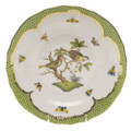 Herend Rothschild Bird Borders Green Dessert Plate No.11 8.25 in RO-EV-01520-0-11