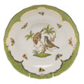 Herend Rothschild Bird Borders Green Dessert Plate No.12 8.25 in RO-EV-01520-0-12