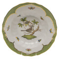 Herend Rothschild Bird Borders Green Rim Soup No.1 9.5 in RO-EV-01503-0-01