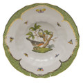 Herend Rothschild Bird Borders Green Rim Soup No.2 9.5 in RO-EV-01503-0-02
