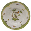 Herend Rothschild Bird Borders Green Rim Soup No.3 9.5 in RO-EV-01503-0-03