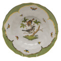 Herend Rothschild Bird Borders Green Rim Soup No.4 9.5 in RO-EV-01503-0-04