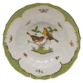 Herend Rothschild Bird Borders Green Rim Soup No.9 9.5 in RO-EV-01503-0-09