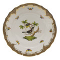 Herend Rothschild Bird Borders Brown Dinner Plate No.1 10.5 in ROETM201524-0-01