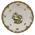 Herend Rothschild Bird Borders Brown Dinner Plate No.2 10.5 in ROETM201524-0-02