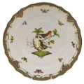 Herend Rothschild Bird Borders Brown Dinner Plate No.3 10.5 in ROETM201524-0-03