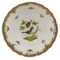 Herend Rothschild Bird Borders Brown Dinner Plate No.4 10.5 in ROETM201524-0-04