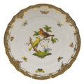 Herend Rothschild Bird Borders Brown Dinner Plate No.6 10.5 in ROETM201524-0-06