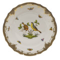 Herend Rothschild Bird Borders Brown Dinner Plate No.7 10.5 in ROETM201524-0-07