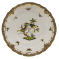 Herend Rothschild Bird Borders Brown Dinner Plate No.11 10.5 in ROETM201524-0-11