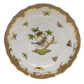 Herend Rothschild Bird Borders Brown Salad Plate No.1 7.5 in ROETM201518-0-01