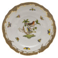 Herend Rothschild Bird Borders Brown Salad Plate No.3 7.5 in ROETM201518-0-03