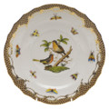 Herend Rothschild Bird Borders Brown Salad Plate No.8 7.5 in ROETM201518-0-08