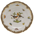 Herend Rothschild Bird Borders Brown Salad Plate No.9 7.5 in ROETM201518-0-09