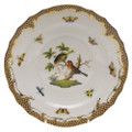 Herend Rothschild Bird Borders Brown Salad Plate No.10 7.5 in ROETM201518-0-10