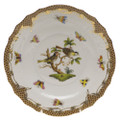 Herend Rothschild Bird Borders Brown Salad Plate No.11 7.5 in ROETM201518-0-11