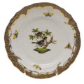 Herend Rothschild Bird Borders Brown Bread and Butter Plate No.1 6 in ROETM201515-0-01