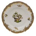 Herend Rothschild Bird Borders Brown Bread and Butter Plate No.2 6 in ROETM201515-0-02