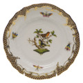 Herend Rothschild Bird Borders Brown Bread and Butter Plate No.3 6 in ROETM201515-0-03