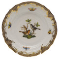 Herend Rothschild Bird Borders Brown Bread and Butter Plate No.5 6 in ROETM201515-0-05