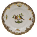 Herend Rothschild Bird Borders Brown Bread and Butter Plate No.7 6 in ROETM201515-0-07