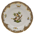 Herend Rothschild Bird Borders Brown Bread and Butter Plate No.8 6 in ROETM201515-0-08
