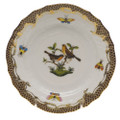 Herend Rothschild Bird Borders Brown Bread and Butter Plate No.9 6 in ROETM201515-0-09